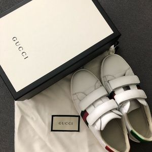Authentic Gucci kids Ace sneakers